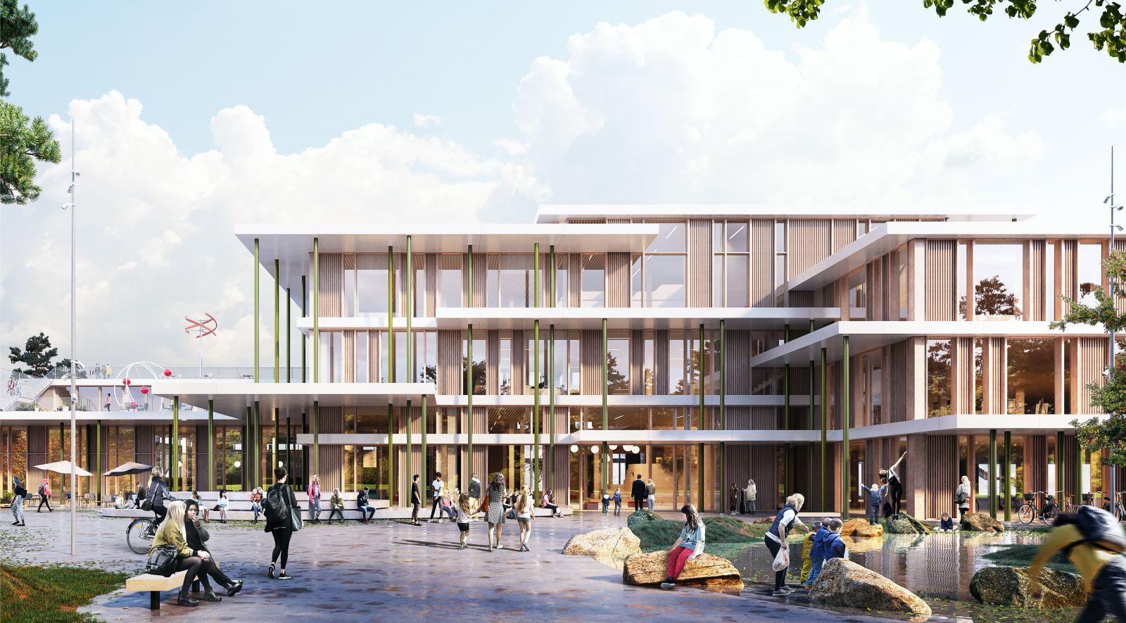 wooden School