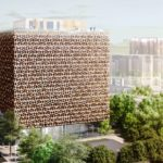 The Blloku Cube is the first building project by Stefano Boeri Architetti in Tirana