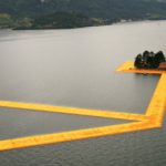The Floating Piers in Lake Iseo by Christo and Jeanne-Claude