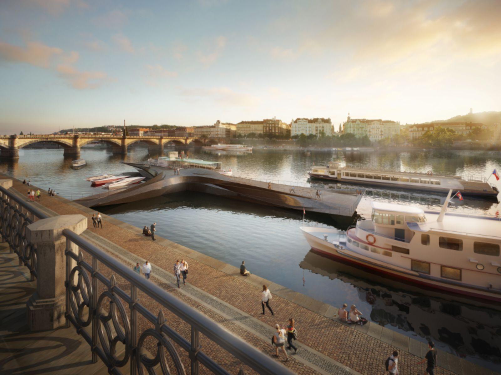 Prague's Riverfront