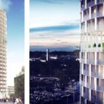 The winning C.F. Møller project is a high-rise building with panoramic garden