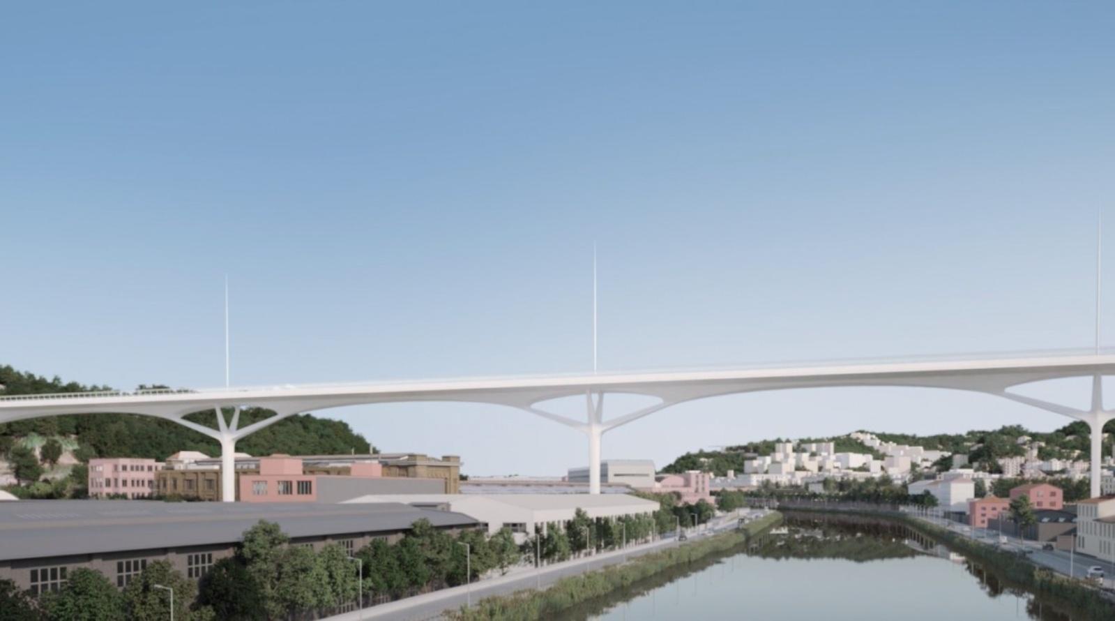 econstruction of the Morandi Bridge in Genoa