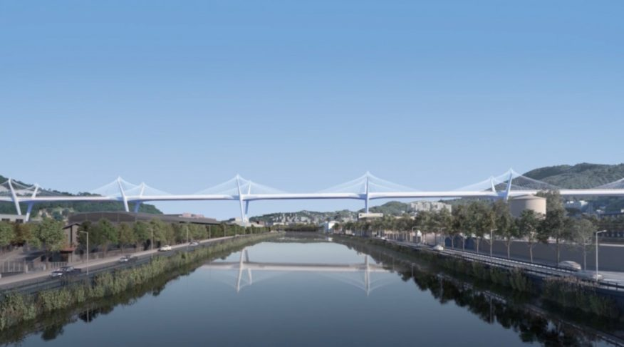 econstruction of the Morandi Bridge in Genoa