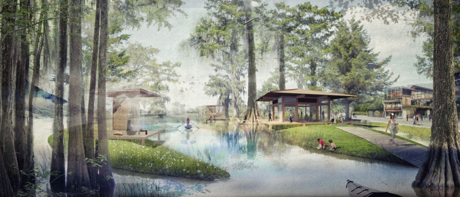 Cypress Islands and tea house