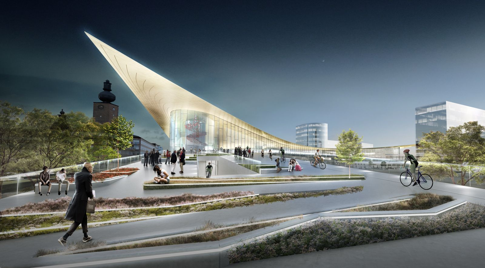 V ster s travel center by bjarke ingels group for Big bjarke ingels group