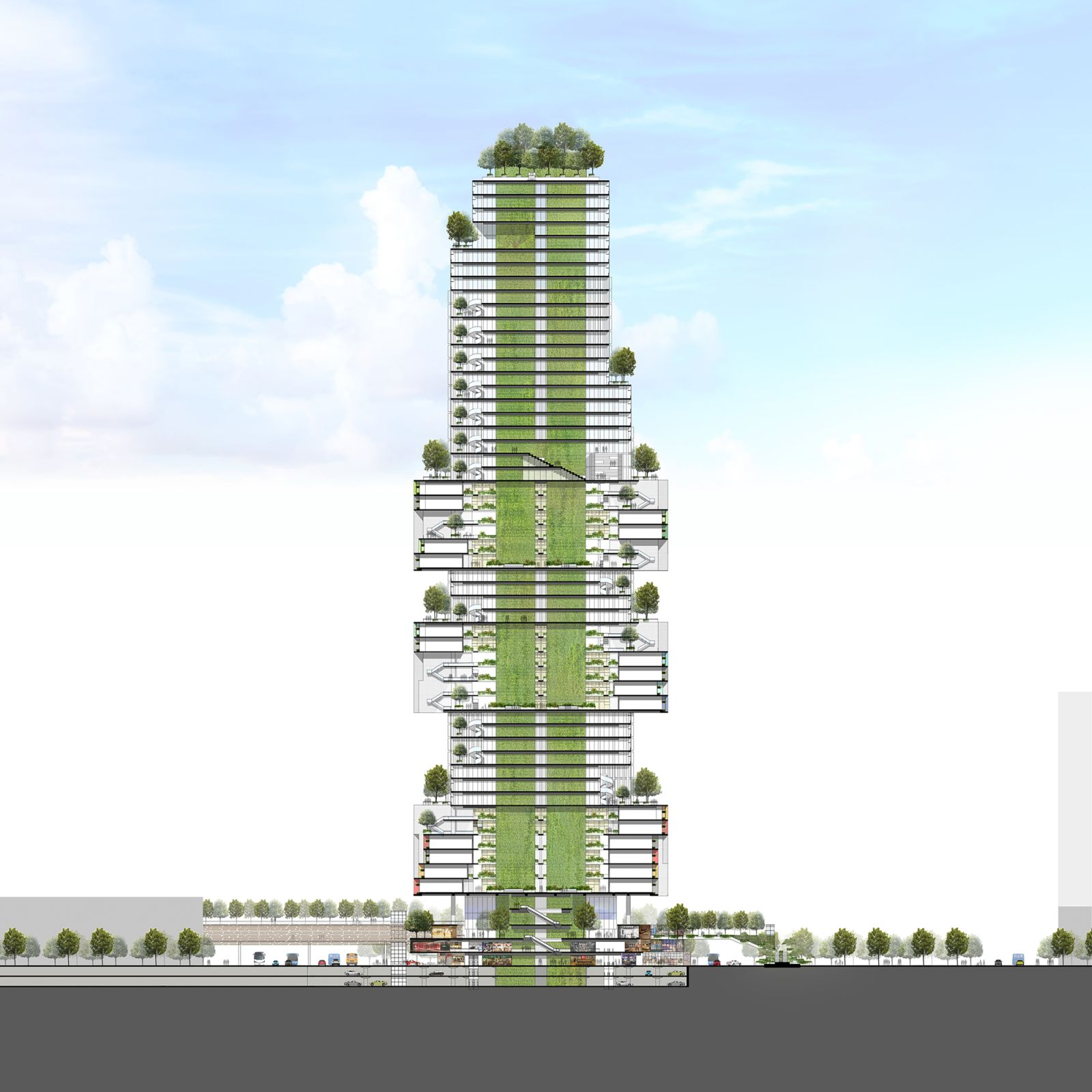 Vertical Stacked City