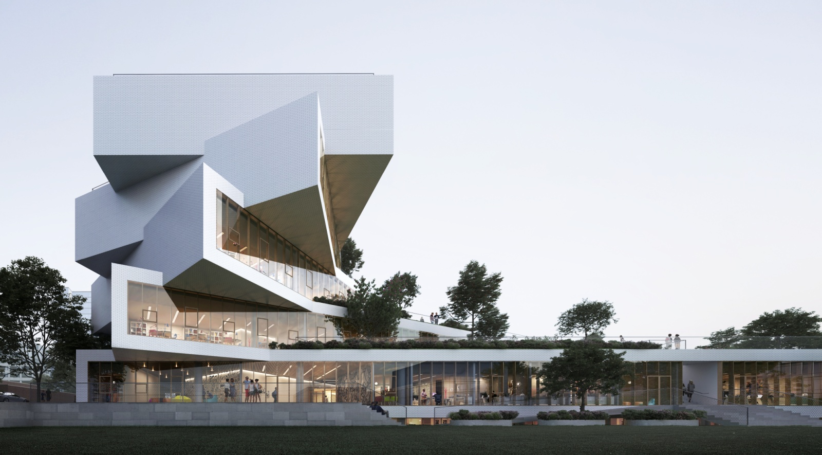 Green Home Building Wilson Secondary School By Big Bjarke Ingels Group A As
