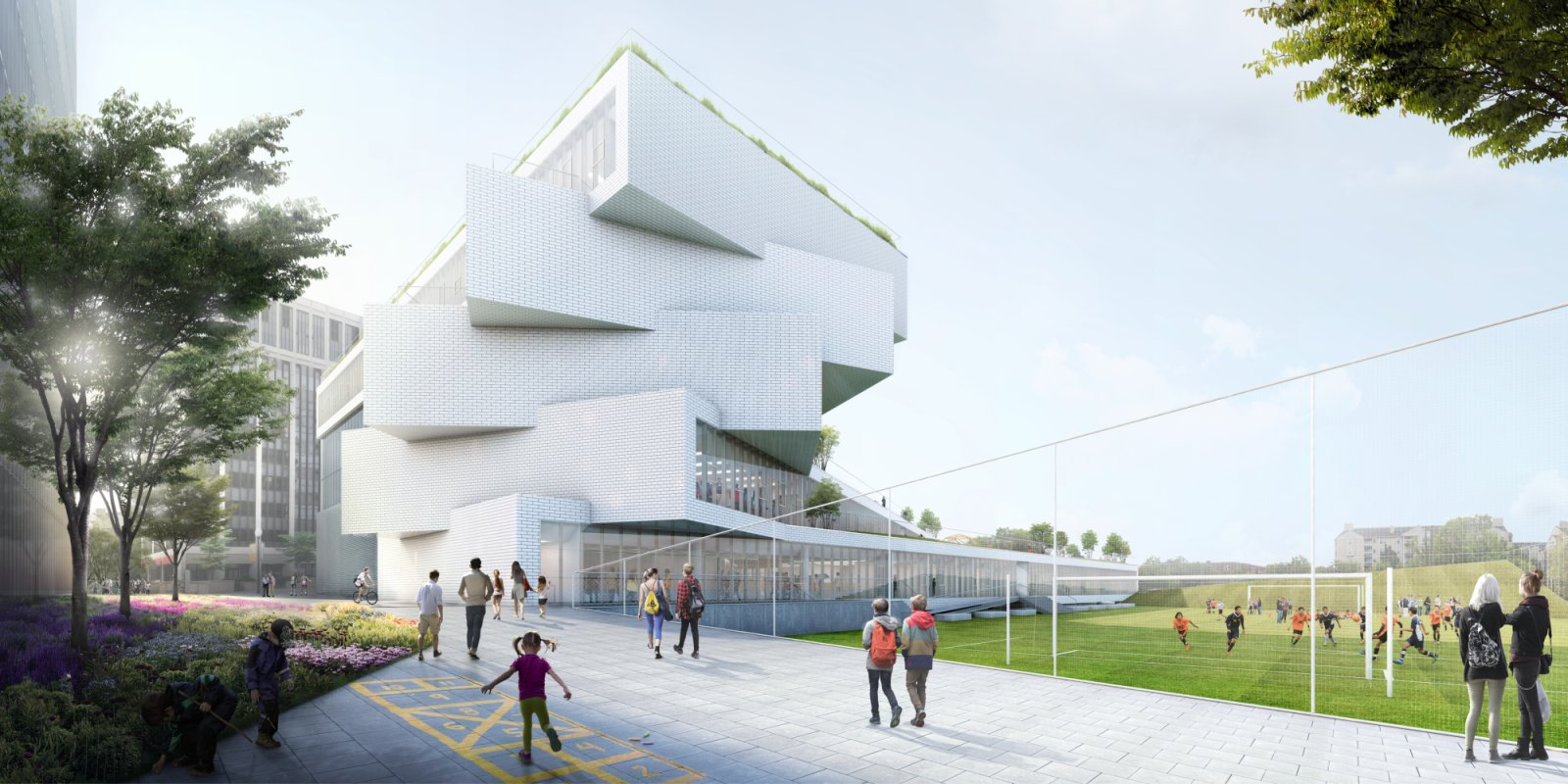 Wilson secondary school by big bjarke ingels group 01 for Big bjarke ingels group