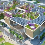 """Wooden Orchids"" Green Shopping Center for China by Vincent Callebaut Architectures"