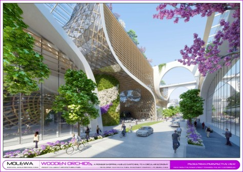 Wooden Orchids Green Shopping Center