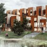 Zenhusen Sustainable town houses by C.F. Møller Architects
