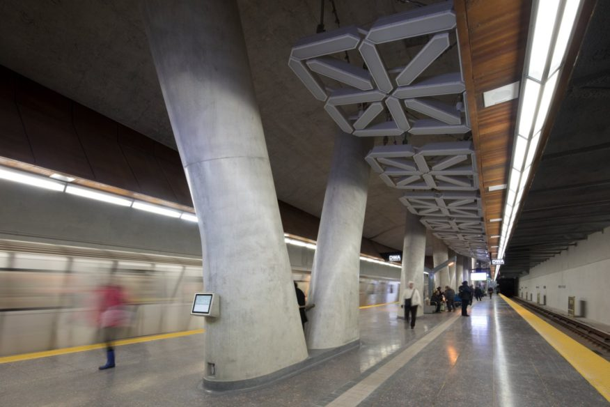 two metro stations in Toronto