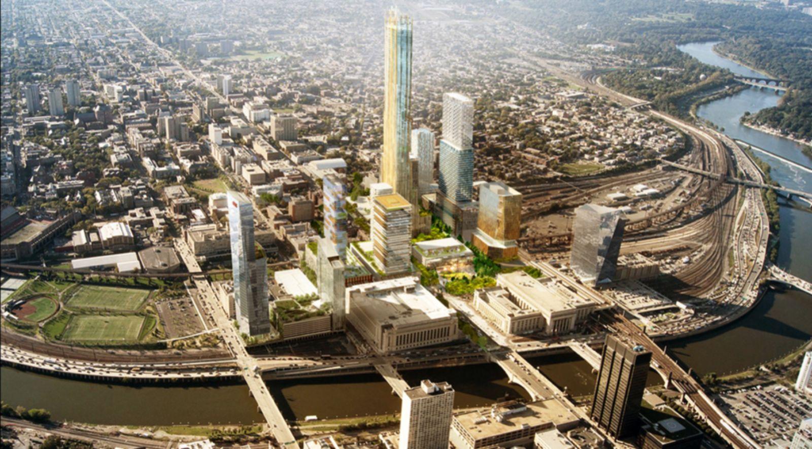 master plan for Philadelphia's Schuylkill Yards